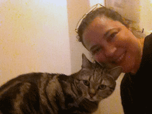 NYC cat sitter and her cat